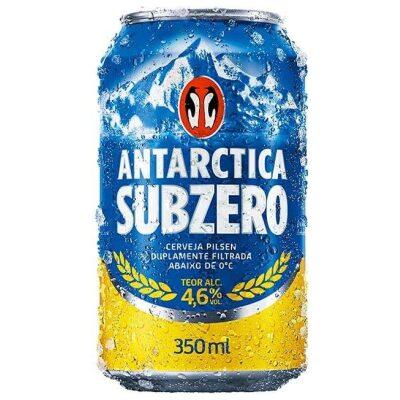 Cerveja Antartica Sub zero lata 330 ml